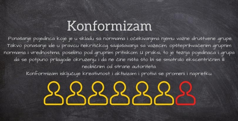 Konformizam, konformitet ili konformnost je ponašanje pojedinca koje je u skladu sa normama i očekivanjima njemu važne društvene grupe. Takvo ponašanje ide u pravcu nekritičkog sag